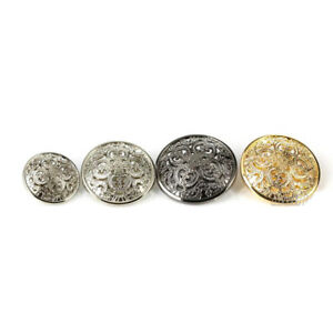 5PCS-Quality-Metal-Floral-Carving-Cut-Out-Shank-Buttons-Craft-Gold-Black-Silver
