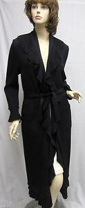 St-John-Black-Kelly-Sweater-COAT-Ruffle-SZ-4-6-NWOT