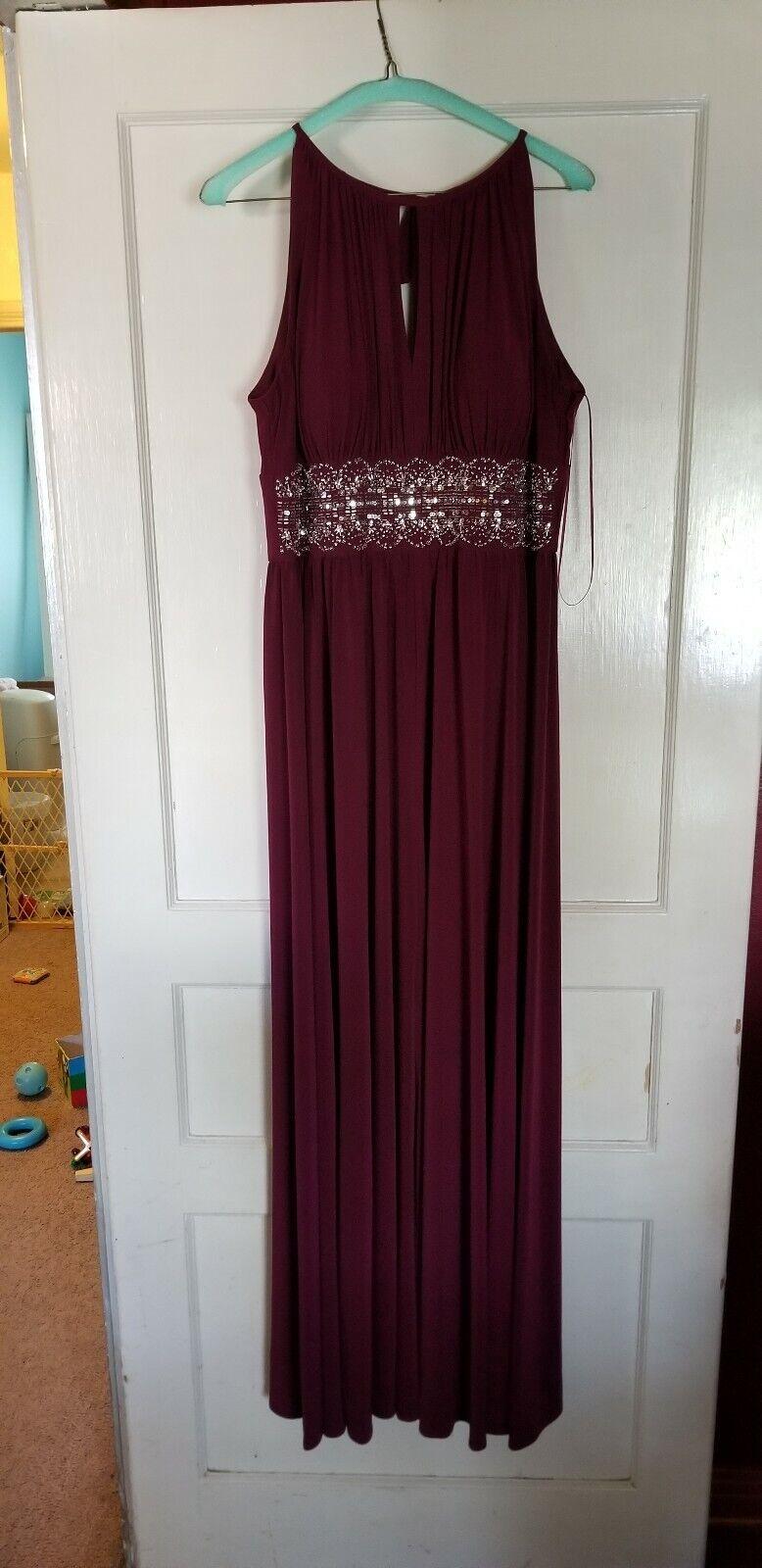 Davids bridal Size 14 Maroon Wedding Prom Dress