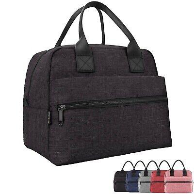 bolsa de almuerzo grande con aislamiento impermeable de lona para escuela de trabajo de viaje al aire libre Bolsa de almuerzo para mujeres y hombres 8.6 x 4.8 x 10.6 in mi-crema