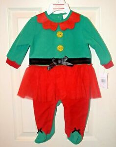 Baby's (Girls) Christmas Elf Outfit (One Piece) Size 3-6 Months - Baby Gear