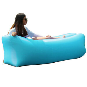 Image Is Loading Lazy Inflatable Air Bed Lounger Sofa Beach Chair