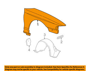 image is loading ford-oem-99-04-mustang-front-fender-quarter-