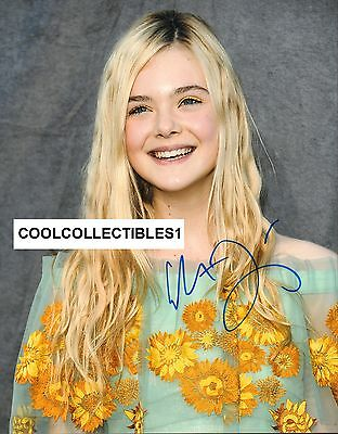 """Elle Fanning """"maleficent"""" In Person Signed 11x14 Color Photo Coa Latest Technology Autographs-original"""