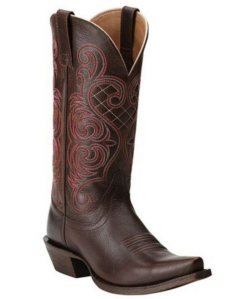 ARIAT Women's Bright Lights Brown Mahogany Western Cowgirl Boots 10011920 NIB