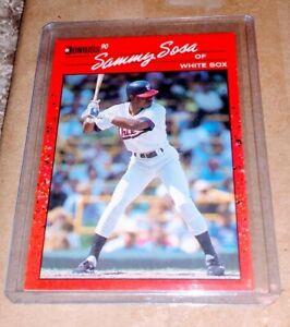 RARE 1990 Donruss Sammy Sosa RC #489 Misprint Rookie Card Cubs 🔥🥵🔥