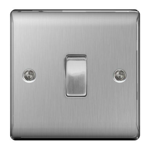 5 x nexus en métal NBS12-en acier inoxydable simple interrupteur 1 gang 2 way