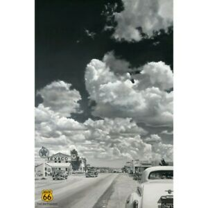 ROUTE-66-POSTER-TEN-SECONDS-AFTER-CLASSIC-1950s-SCENE-91-x-61-cm-36-x-24-034