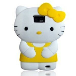 Electek-3D-Soft-and-Silicone-Hello-Kitty-Yellow-Case-For-Samsung-Galaxy-S2-i9100