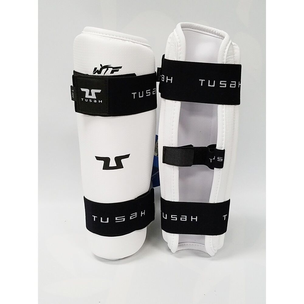 TUSAH Taekwondo Shin Predector Karate MMA Leg Guard E-Z Fit Sparring Gear-WTF