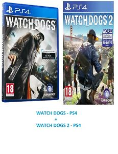 Watch-Dogs-1-amp-2-PS4-MINT-Same-Day-Dispatch-via-Super-Fast-Delivery