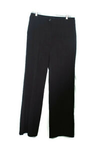 NYDJ-Womens-Black-Rayon-Nylon-Blend-Flat-Front-Career-Trouser-Pants-10