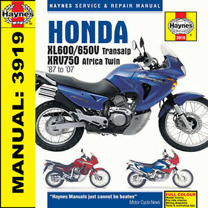 Honda-XL600-XL650-XL650V-Transalp-XRV750-1987-2007-Haynes-Manuel-3919-Neuf