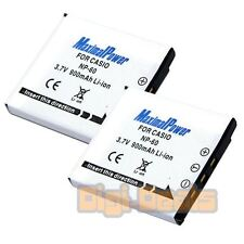 BATTERY x 2 for CASIO NP-60 Exilim EX-S10 EX-Z20 EX-Z25  Camera TWO BATTERIES