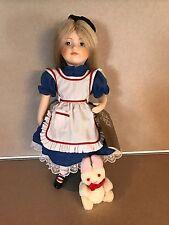 Vintage-Franklin-Heirloom-Dolls-Porcelain-Alice-in-Wonderland