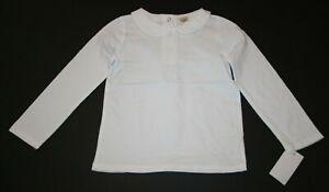 New-OshKosh-Girls-Solid-White-Peter-Pan-Collar-Shirt-Top-LS-NWT-18-24m-2T-3-4-5T