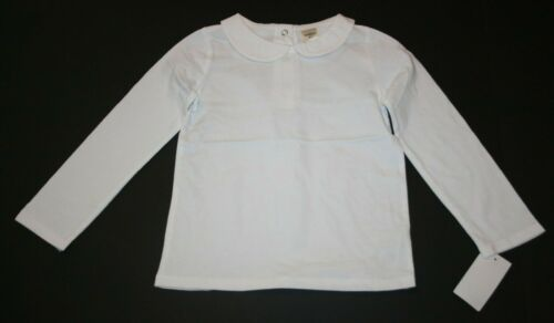 New OshKosh Girls Solid White Peter Pan Collar Shirt Top LS NWT 18 24m 2T 3 4 5T