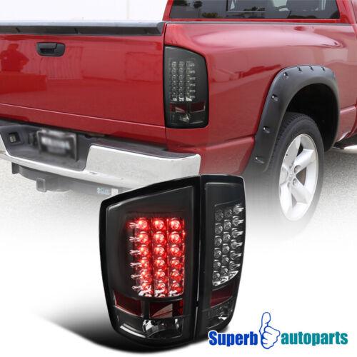 For 2PC 2007-2008 Dodge Ram 1500 2500 3500 Smoke LED Tail Lights Brake Lamps