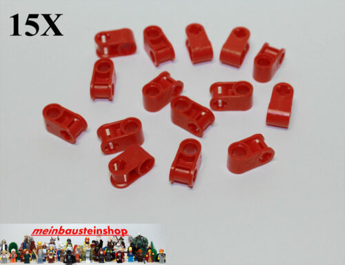 15X Lego® 6536 Technic Achs Pin Verbinder Connector 2 Fach Rot Red NEU