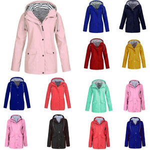 Winter-Women-Rain-Jacket-Outdoor-Plus-Waterproof-Hooded-Raincoat-Windproof-HOT