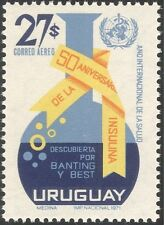 Uruguay 1971 Health/Medical/Welfare/Insulin/WHO/Science/Medicine 1v (n24868)