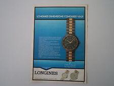 advertising Pubblicità 1984 OROLOGIO LONGINES VHP CONQUEST