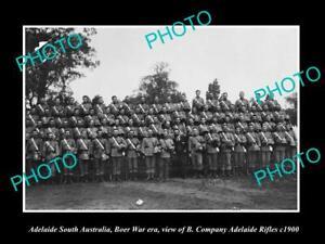 8x6-HISTORIC-PHOTO-OF-ADELAIDE-SA-THE-BOER-WAR-B-Company-ADELAIDE-RIFLES-c1900