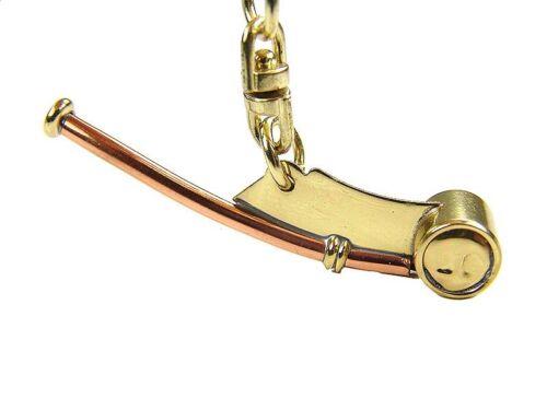 Maritimer Schlüsselanhänger I Bootsmannpfeife Messing am-mbp