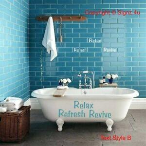 Detalles de Cuarto de baño y Kit de Calcomanías Autoadhesivos De  Azulejos-Opciones-Bañera Azulejo renovar Hazlo tú mismo Chic- ver título  original