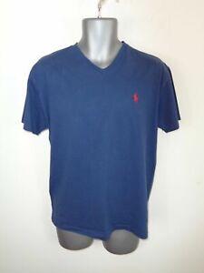 Homme Polo Ralph Lauren Bleu Marine Classique à encolure ras-du-cou à manches courtes T Shirt S Small