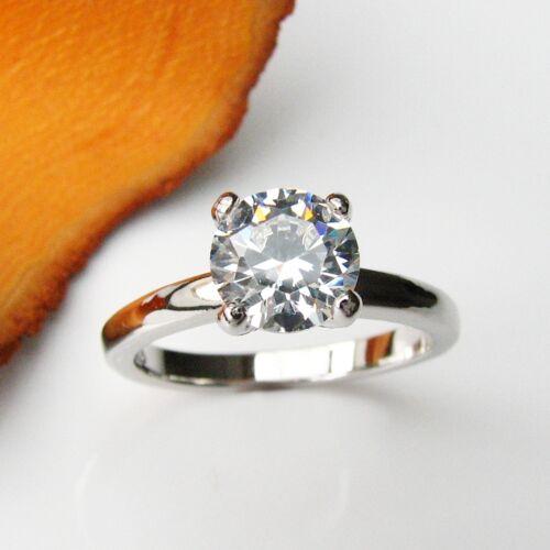 Solitär Ring Echt 925 Silber Solitaire Zirkonia Gr 50 54 58