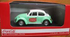 VW Käfer 1966 Beetle COCA COLA Green  Volkswagen *** Motor City  1:43 OVP