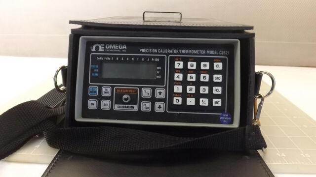 Omega Precision Calibrator / Thermometer  CL521 Thermocouple  RTD