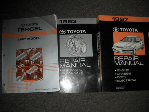 1997 Toyota Tercel Service Shop Repair Manual Set Oem W