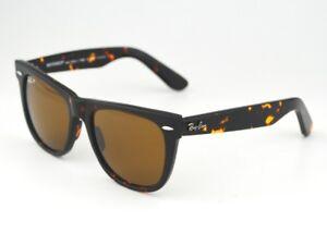 a272d319e4255 Image is loading RAY-BAN-Sunglasses-Wayfarer-Tortoise-Brown-Polarized-Lens-