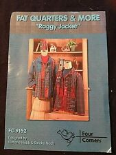 by Four Corners Designs *NEW* RAGGY JACKET SEWING PATTERN