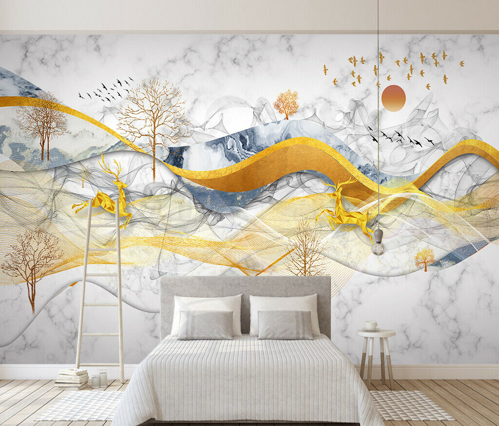 3D Kunst Abstraktion M434 Tapete Wandbild Selbstklebend Abnehmbare Aufkleber Amy