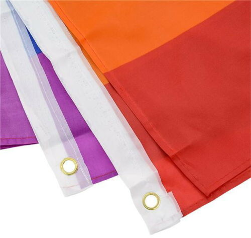 "12 WHOLESALE NEW Rainbow Flags 3 x 5 FT Gay Pride Lesbian 36/"" x 60/"" LGBT Flag"
