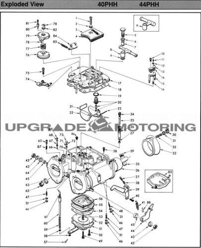 MIKUNI 44 PHH CARB GASKET REBUILD KITS X3 Z70-1044 240Z//280Z//HAKOSUKA//S30//Solex