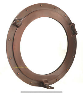 Copper-Finish-Brass-Porthole-Mirror-Nautical-Ship-Cabin-Boat-Porthole-Window-20-034