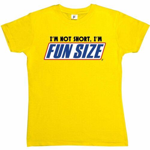 I/'m Not Short I/'m Fun Sized Snickers Funny Womens Boyfriend Fit T-Shirt