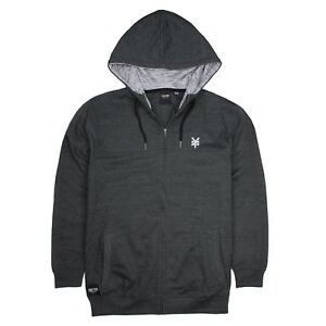 Details zu Zoo York Mens Zip Hoodie Logo Grey Sizes S,M,L,XL,XXL