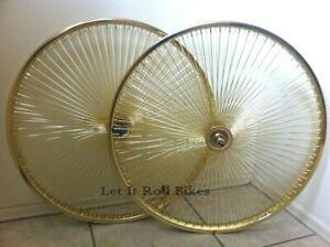 "BICYCLE 20/"" WHEELSET 140 SPOKES FREEWHEEL or COASTER CRUISER LOWRIDER BMX"