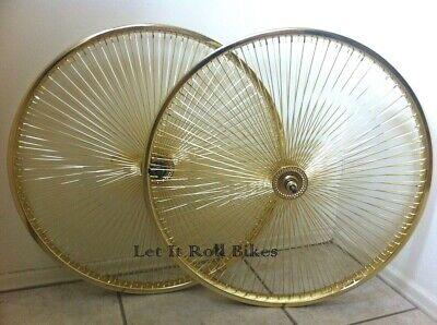 """Nouveau 26/"""" LOWRIDER GOLD Essieu 144 rayons Frein à Rétropédalage Vélo Cyclisme!"""