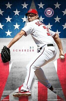 MAX SCHERZER WASHINGTON NATIONALS POSTER 22x34 MLB BASEBALL 17647