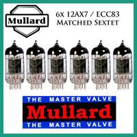 6x Mullard 12ax7 / Ecc83 | Matched Sextet / Six Tubes