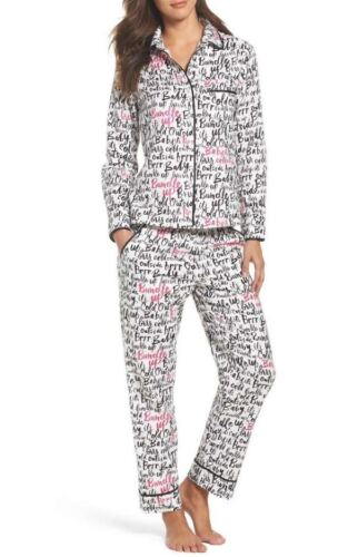 Kate Spade Women/'s Pajama Set S M L Dolled-up Dots Poker Party Its Cold New $88