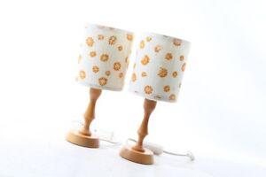 2 schöne alte Nachttischlampen DDR lampe Kult Retro Design 70er Jahre
