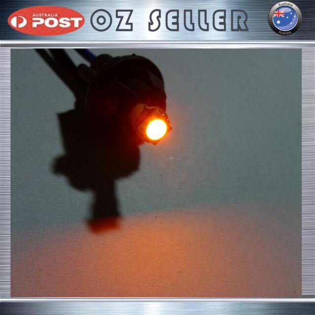2x T5 286 18 27 Amber 5050SMD Wedge Shifter Dash Kit LED Bulb Globe Light Car