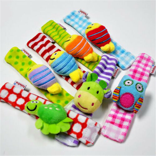 Rattle Wrist Sock Animal Early Education Soft Plush Hand Bell Rattle Kids Toys